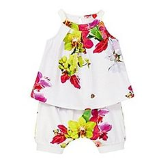 Baby & Toddler Clothing Baby Clothes Girl Tu Floral Cotton Summer Romper 12-18 Months Other Newborn-5t Girls Clothes