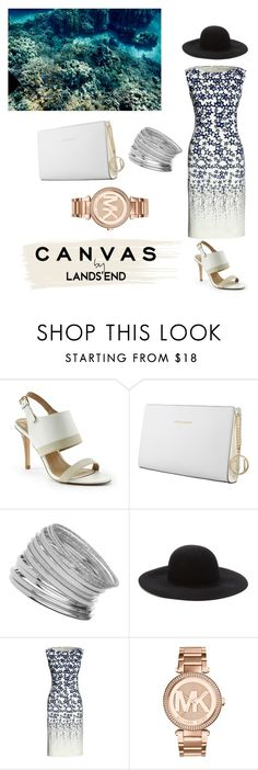 """Paint Your Look With Canvas by Lands' End: Contest Entry"" by neko9999 ❤ liked on Polyvore featuring Lands' End, Trussardi, Miss Selfridge, Forever 21, Canvas by Lands' End and Michael Kors"