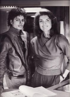 Michael with Jackie O - great stories about her editing his autobiography Moonwalk.
