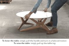 Boulon Blanc is raising funds for BOULON BLANC - The next generation of transformable tables on Kickstarter! From a coffee table to a diner table in 1 second. Coffee Table Styling, Rustic Coffee Tables, Coffee Table Books, Decorating Coffee Tables, Coffee Table Design, Convertible Table, Convertible Furniture, Diner Table, Moving Furniture