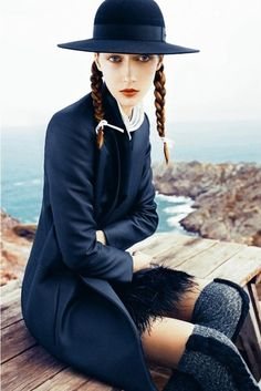 zinne:  Alana Zimmer for Marie Claire Italia August 2010