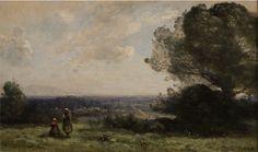 UMFA: Camille Corot, Souvenir des environs de Boissy Saint-Leger, oil on canvas, ca. 1872