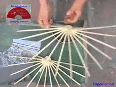 How to make a paper fan by hand. I want to upscale this and make huge fans!
