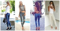Guide to Wearing Jeans for Petites – 5 Styling Dos and Don'ts How To Wear High Waisted Jeans, High Waist Jeans, How To Wear Culottes, Best Jeans For Women, Flattering Outfits, Petite Jeans, Winter Fashion Casual, Petite Fashion, Boutique Clothing