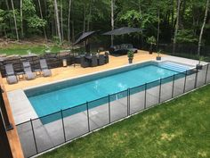 Pool Safety Barriers for Your Backyard. Fencing for in-ground and above-ground pools! Child safe removable pool fence