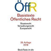 Basistexte ã Ffentliches Recht Dtv Beck Texte Recht Ffentliches Basistexte Texte Beck Basen Verwaltung
