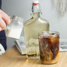 Learn how to make your own ice coffee concentrate the easy way with bonus recipe for how to add flavors!