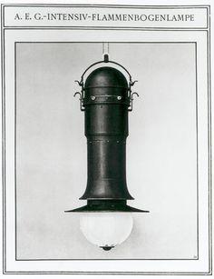 design-is-fine:  Peter Behrens, flame arc lamp, Flammenbogenlampe, 1907. AEG, Germany. Via electrolux