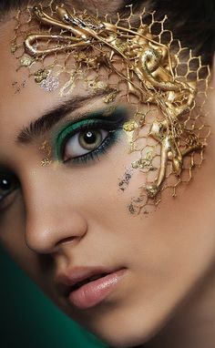 Image result for metallic makeup photo shoot