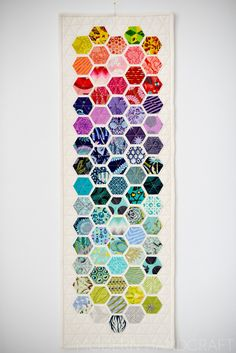 Hexie quilt ideas, rainbow quilt ideas