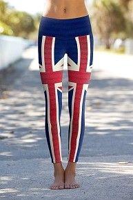 Union Jack - Printed Performance Leggings