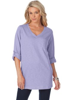 Plus Size Boyfriend Slub Tunic