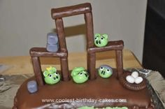 This is my Angry Birds cake that I made for a very special little boys birthday. The cake flavor is chocolate chip and pe Cool Birthday Cakes, 5th Birthday, Birthday Ideas, Angry Birds Cake, Cake Flavors, Homemade, Chocolate, Cool Stuff, Home Made