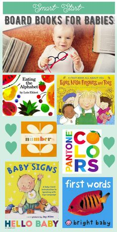 Get your baby off to a smart start with these educational (and chewable) board books. Kid Books, Baby Books, Toddler Books, Children's Books, Craft Activities For Kids, Infant Activities, Board Books For Babies, Baby Eating, Baby List