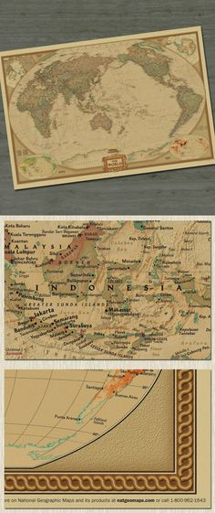 Vintage Retro World Map Antique Poster Wall Sticker Home - Retro world map poster