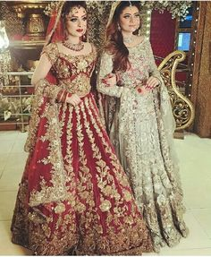 Khaki lehenga choli with dupatta. Work - Heavy embroidery work on lehenga, choli and dupatta. Pakistani Wedding Outfits, Indian Bridal Wear, Pakistani Wedding Dresses, Best Wedding Dresses, Bridal Outfits, Indian Dresses, Indian Outfits, Dress Wedding, Dresses Dresses