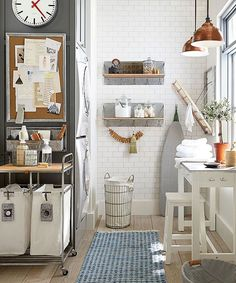 Shop Pottery Barn for our selection of wall organizers and wall shelves. Find wood and metal modular storage systems and add organization to any room. Drying Rack Laundry, Laundry Room Organization, Laundry Room Design, Laundry Rooms, Drying Racks, Laundry Storage, Laundry Cart, Laundry Decor, Laundry Closet