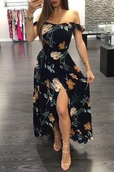 2020 Women Fashion boho floral dress black dress with embroidered flow – swetson Cute Casual Outfits, Boho Outfits, Spring Outfits, Dress Outfits, Casual Dresses, Fashion Dresses, Mode Adidas, Boho Floral Dress, Floral Dresses