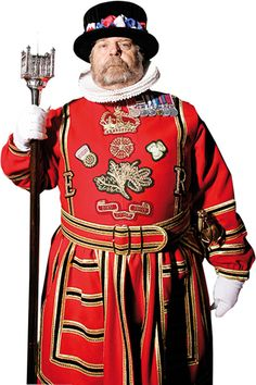 London's Top 10 : Tower of London - Yeoman Warders    Some 35 Yeoman Warders now include a female Warder. Former non-commissioned military officers with Long Service and Good Conduct Medals, they wear uniforms dating from Tudor times.