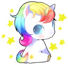 Look at this cute baby unicorn. lol Some people will understand this. :)