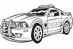 coloriage transformers en voiture de police