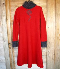 TULIP & TATAMO womens DRESS Norway design by ANNE ISENE UK 10 M Norsk Winter
