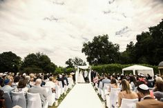 Victoria and Ben celebrated a Jewish Wedding Ceremony Outside in The Temple Garden at Botleys Mansion | Bijou