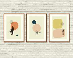 AMOR en abstracto - Eternal Sunshine of The Spotless Mind, perdido en la traducción, Annie Hall carteles inspirados - 12 x 18 mediados siglo moderno