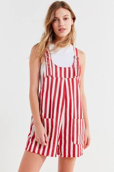 f3d03b73fa773 Shop UO Striped Shortall Overall at Urban Outfitters today. We carry all  the latest styles