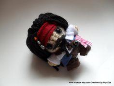 Jack Sparrow Amigurumi von AnyaZoe auf Etsy
