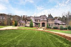 2009 French Country Estate, Weddington, NC.  Looks like a modern day castle.