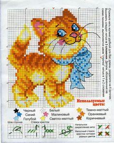 View album on Yandex. Modern Cross Stitch Patterns, Cross Stitch Designs, Pixel Design, Cross Stitch Animals, Cat Crafts, Stuffed Animal Patterns, Cross Stitching, Animals And Pets, Needlework