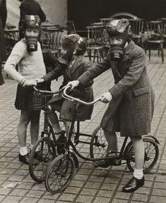Blitz on Bikes, London c. 1940 (via National Media Museum)