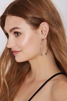 No Hype Threaded Hoop Earrings - Accessories | Earrings