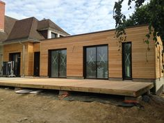 façade Self Build Houses, A Frame Cabin, Facade House, Bungalow, Building A House, Shed, New Homes, Lounge, Exterior