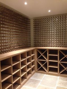 installed in pine wood, perfect for storing champagne, whisky & other spirits! Find the ultimate modern wine cellar or modern wine room with Wineware! Wine Racks Uk, Wine Cellar Racks, Wine Rack Storage, Wine Rack Wall, Storage Cubes, Wine Wall, Wine Rack Design, Wine Cellar Design, Wine Cellar Basement
