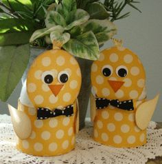 cute paper Easter chicks