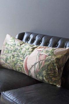 Large Rectangle Cockatoo Velvet Cushion
