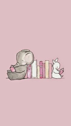 Walls Wallpaper Pink Cute Elephant Best Phone Iphone Books