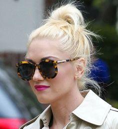 Spotted! #Gwen #Stefani in Super Duper frames from Karen Walker, available at #SunglassCurator.com in #black