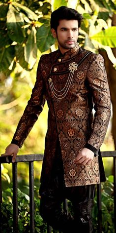 ways to wear a sherwani