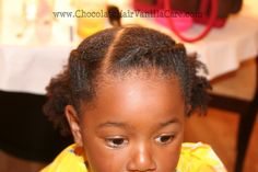 Two Flat Rope Twists with Puffs   Chocolate Hair / Vanilla Care