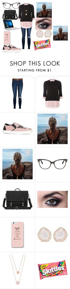 """""""Pink and Black Day"""" by crazykitsune ❤ liked on Polyvore featuring Dorothy Perkins, Dolce&Gabbana, Tom Ford, Microsoft, Kimberly McDonald and Michael Kors"""