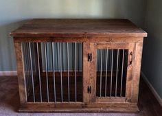Perrera del perro personalizado | Café o mesa de entrada | Muebles de doble propósito