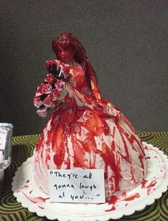 Hahaha,Carrie Cake...what the hell