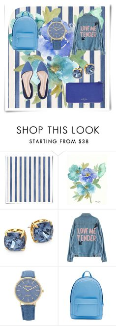 """Blue"" by kistajermonika on Polyvore featuring Christian Lacroix, Tory Burch, PB 0110 and Kate Spade"
