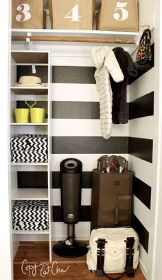 Stackable shelves from Lowes...$12.99.  Ranch House Redo | A Shared Nursery Closet | Copy Cat Chic: Ranch House Redo | A Shared Nursery Closet