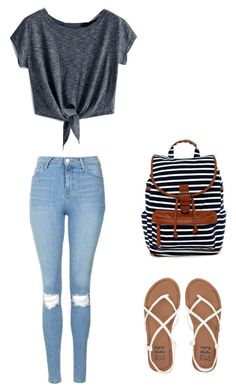 """School outfit"" by madisenharris on Polyvore featuring Topshop, Billabong and Madden Girl"