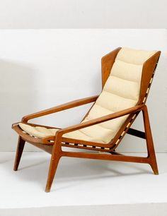 Gio Ponti; #811 Walnut Lounge Chair for Cassina, c1957.