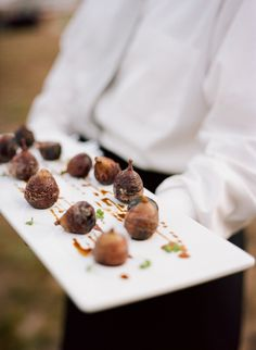 Mini roasted goodies.  Durham Ranch Wedding by Meg Smith Photography  Read more - http://www.stylemepretty.com/2012/03/29/durham-ranch-wedding-by-meg-smith-photography/